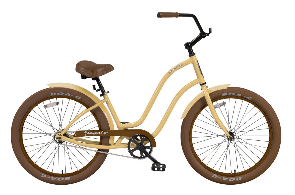 "Ladies' ""Newport"" - Alloy Frame - 1 Speed Cruiser - Brown Components"