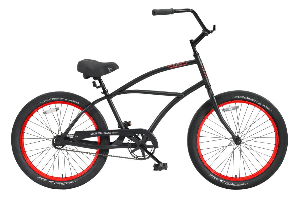 24 Inch Puck 1 Speed Beach Cruiser Bicycle