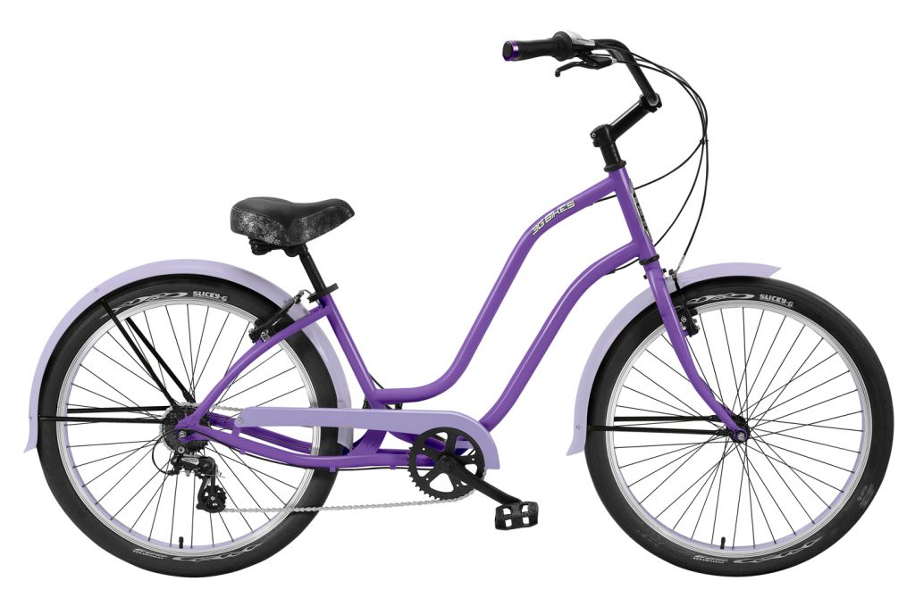Ladies Venice - Steel Frame - 7 Speed Cruiser - Black Components