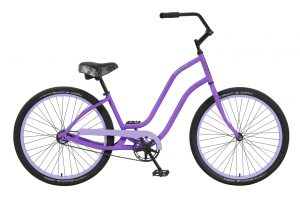 Ladies Venice - Steel Frame - 1 Speed Cruiser - Black Components