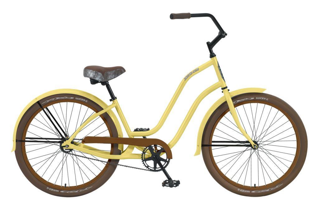 Ladies Venice - Steel Frame - 1 Speed Cruiser - Brown Components