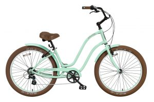 Ladies Newport - Alloy Frame - 7 Speed Cruiser - Brown Components