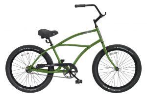 24 Inch Puck DLX 1 Speed Beach Cruiser Bicycle